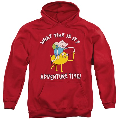 Adventure Time What Time Is It? Red Hoodie