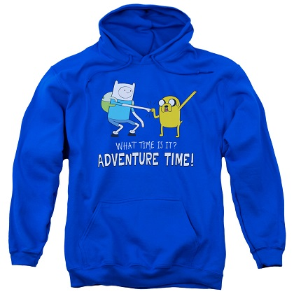 Adventure Time What Time Is It? Blue Hoodie