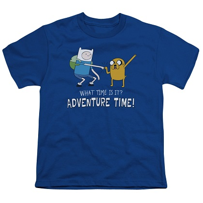 Adventure Time What Time Is It Blue Youth Tshirt