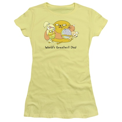 Adventure Time Worlds Greatest Dad Womens Tshirt