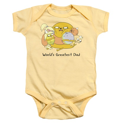 Adventure Time Worlds Greatest Dad Baby Onesie