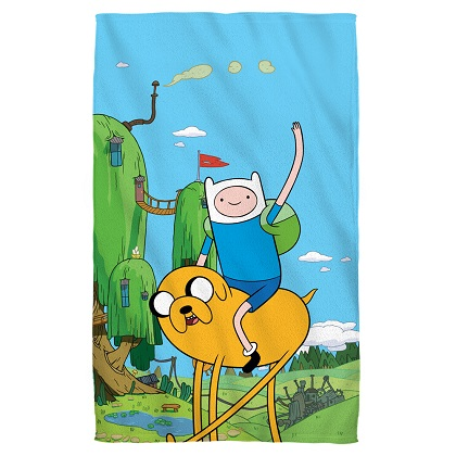 Adventure Time Best Bros Beach Towel