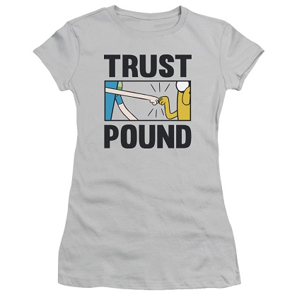 Adventure Time Trust Pound Womens Tshirt