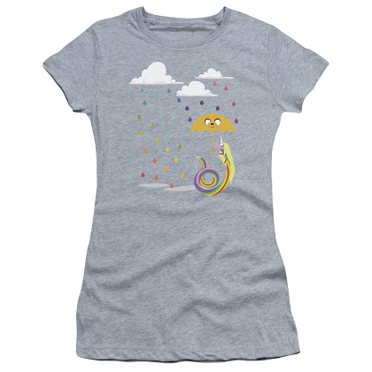 Adventure Time Lady In The Rain Womens Tshirt