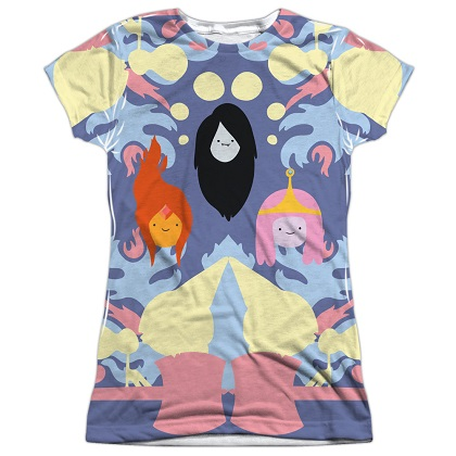 Adventure Time Girls Trio Womens Tshirt