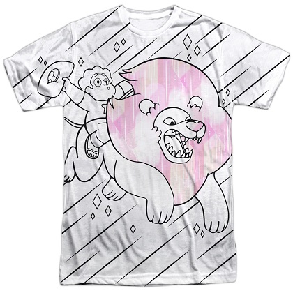 Steven Universe Riding Lion Tshirt