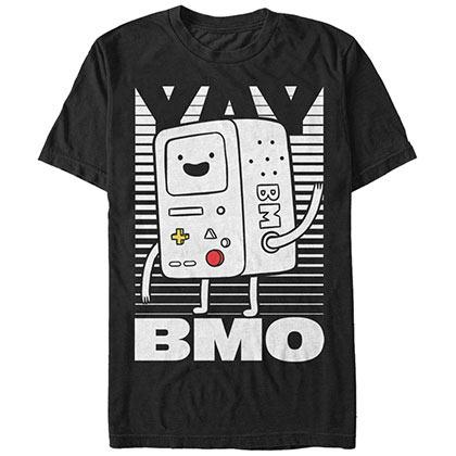 Adventure Time Men's Black Yay BMO T-Shirt