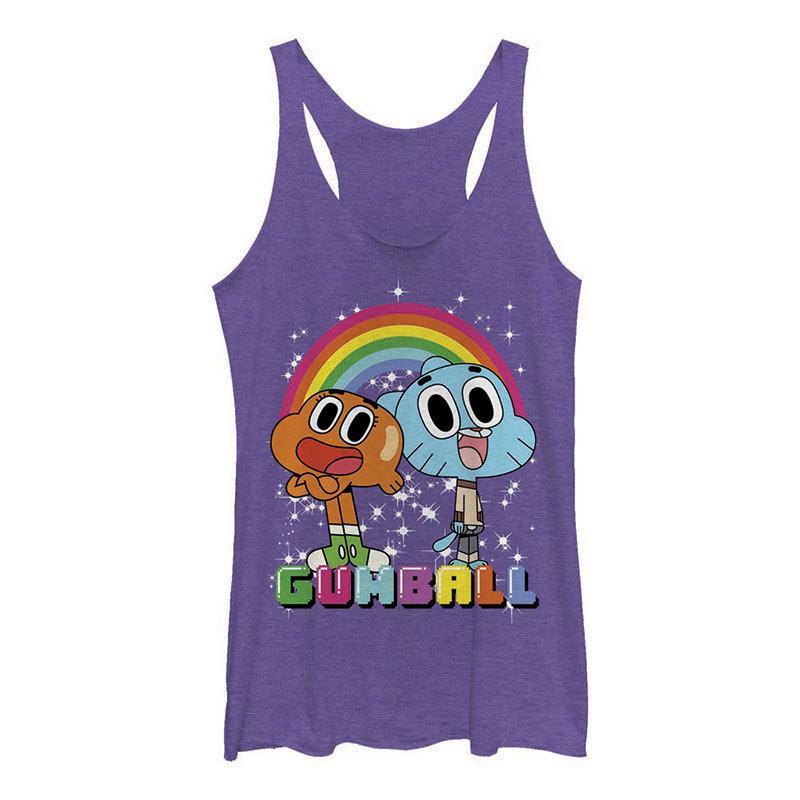 Cartoon Network Gumball Best Friends Purple Junios Tank Top