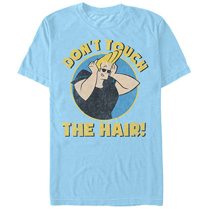 Cartoon Network Johnny Bravo Do Not Touch Blue T-Shirt