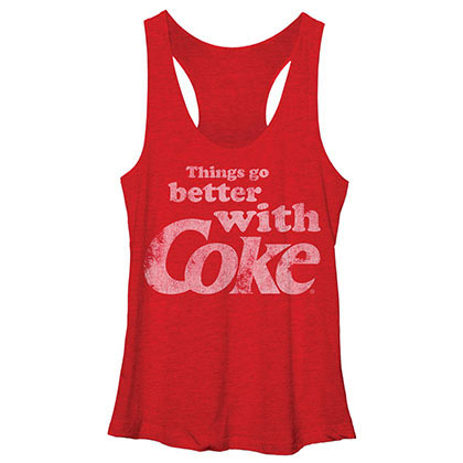 Coca-Cola Better With Coke Red Juniors Tank Top