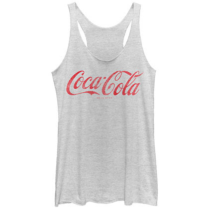 Coca-Cola Cola Cool Gray Juniors Tank Top