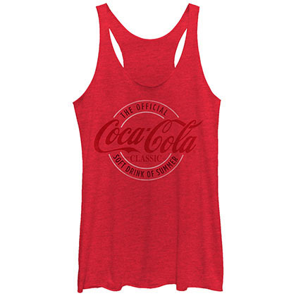 Coca-Cola Classic Round Red Juniors Tank Top