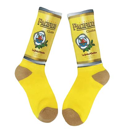 Pacifico Men's Yellow Crew Socks