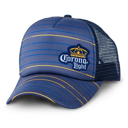 Corona Light Mesh Striped Trucker Hat
