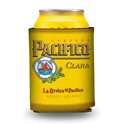 Pacifico Yellow Foam Can Cooler