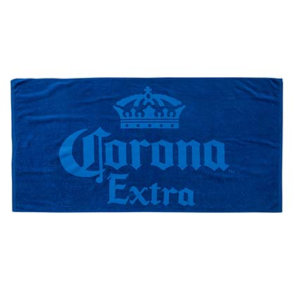 Corona Beer Blue Beach Towel