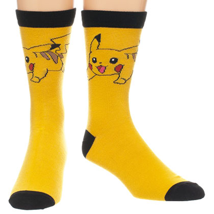 Pokemon Yellow Pikachu Socks