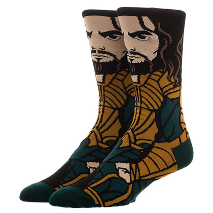 Justice League Men's Aquaman Portrait Socks