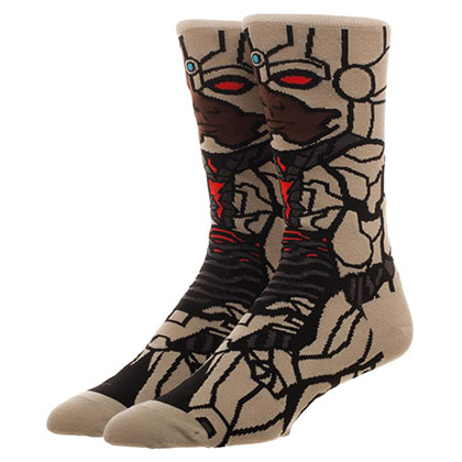 Justice League Men's Cyborg Portrait Socks