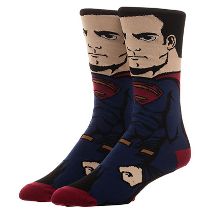 Justice League Men's Superman Portrait Socks