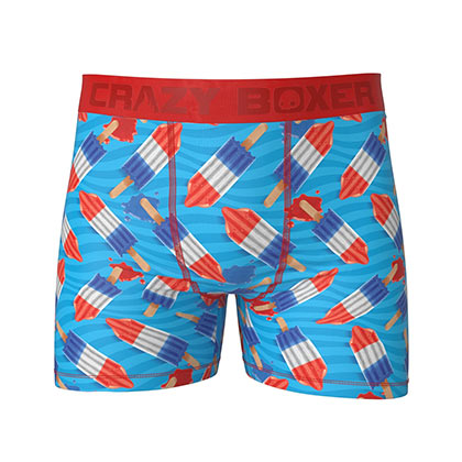 Bomb Pop Red White and Blue Boxer Briefs