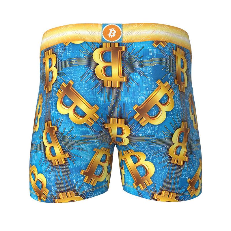 Bitcoin Design Underwear Blue Men's Boxer Briefs