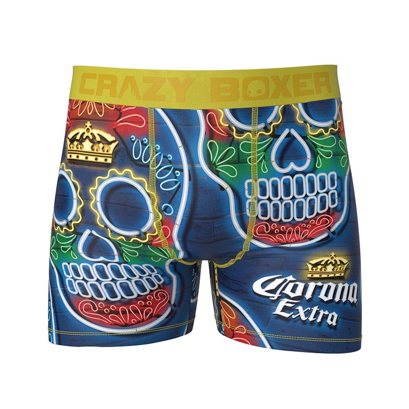Corona Extra Sugar Skull Men's Boxer Briefs