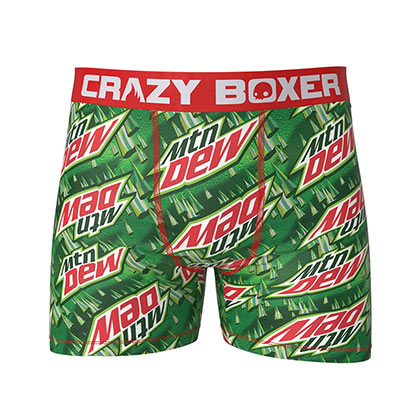 Mountain Dew Green Logo Men's Boxer Briefs Shorts