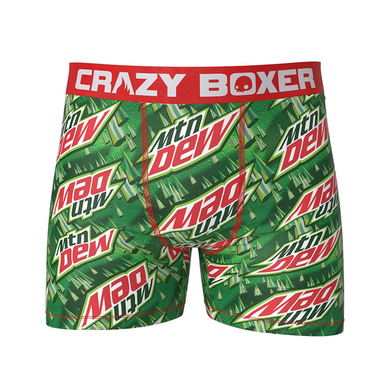 Mountain Dew Green Logo Men's Boxer Briefs