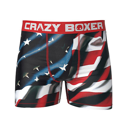 American USA Flag Patriotic Men's Boxer Briefs