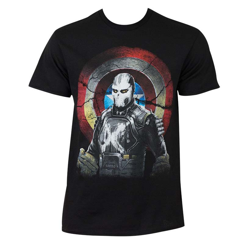 Captain America Civil War Men's Cross Bones Marvel Mercenary T-Shirt