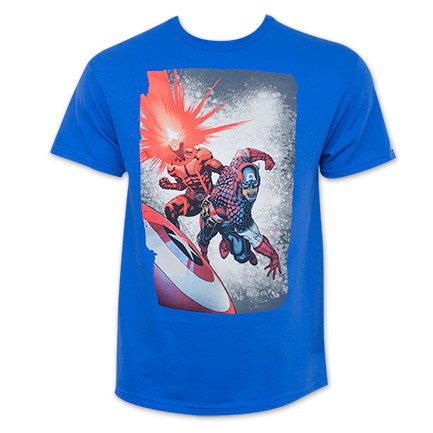 Marvel Men's Cyclops Captain America Blast T-Shirt