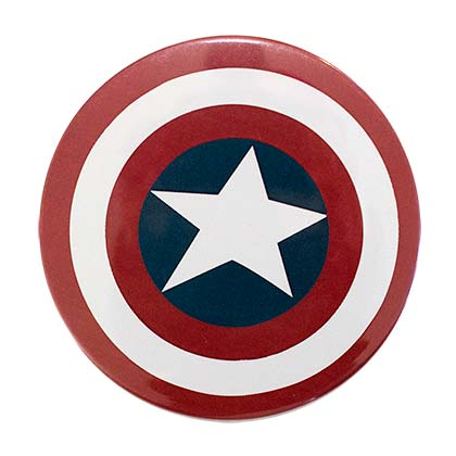 Captain America Logo Pin Back Button