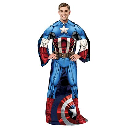 Captain America Adult Muscle Snuggie