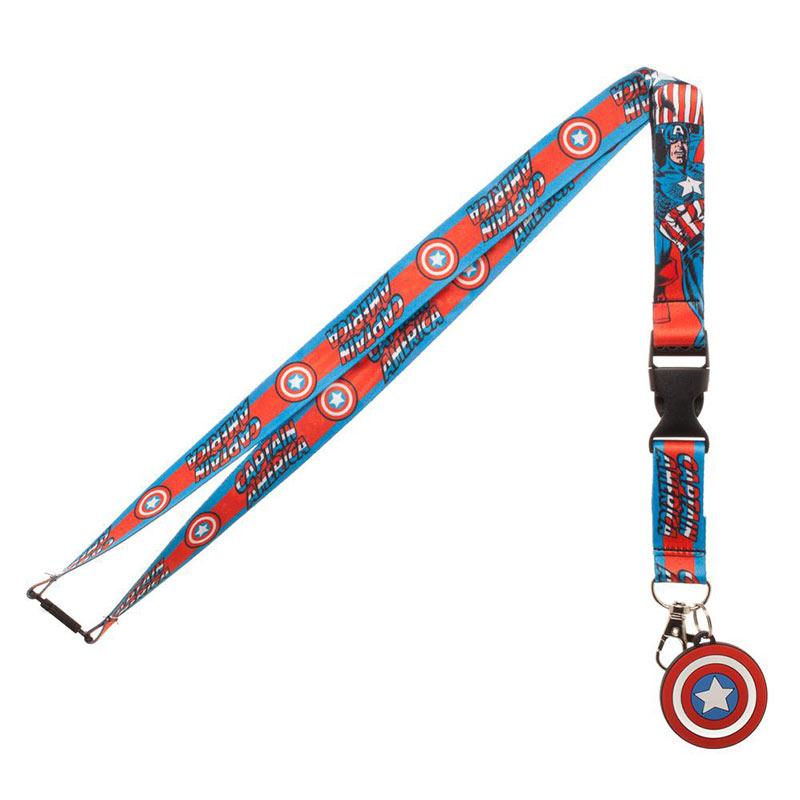 Captain America Comic Lanyard