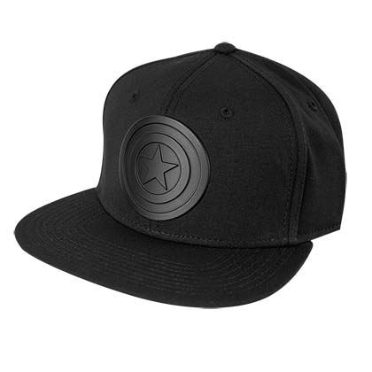 Captain America Black Logo Men's Black Hat