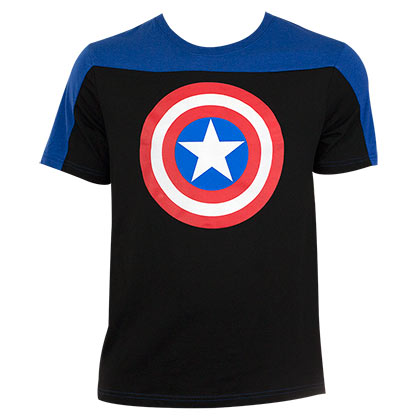 Captain America Men's Two-Tone T-Shirt