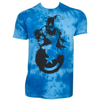 Captain America Blue Tie Dye T-Shirt