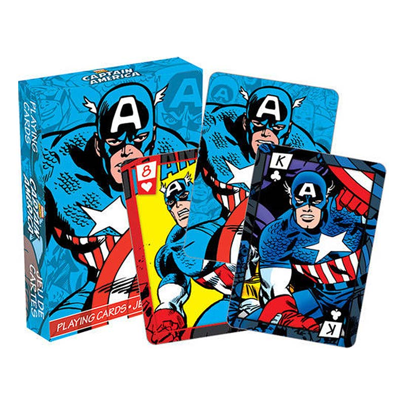 Captain America Superhero Playing Cards