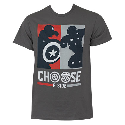 Captain America Civil War Men's Choose A Side T-Shirt
