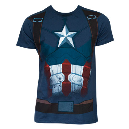 Captain America Civil War Comic Suit Costume Shirt