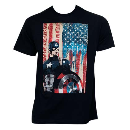 Captain America Civil War Movie Patriotic Captain Black