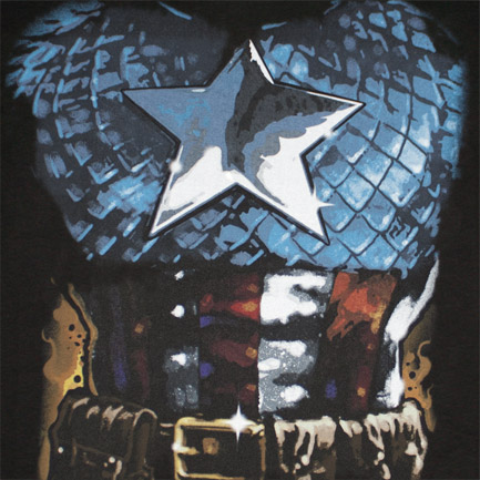 Captain America Suit Costume Halloween Black Graphic T Shirt