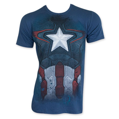 Captain America Distressed Costume T-Shirt