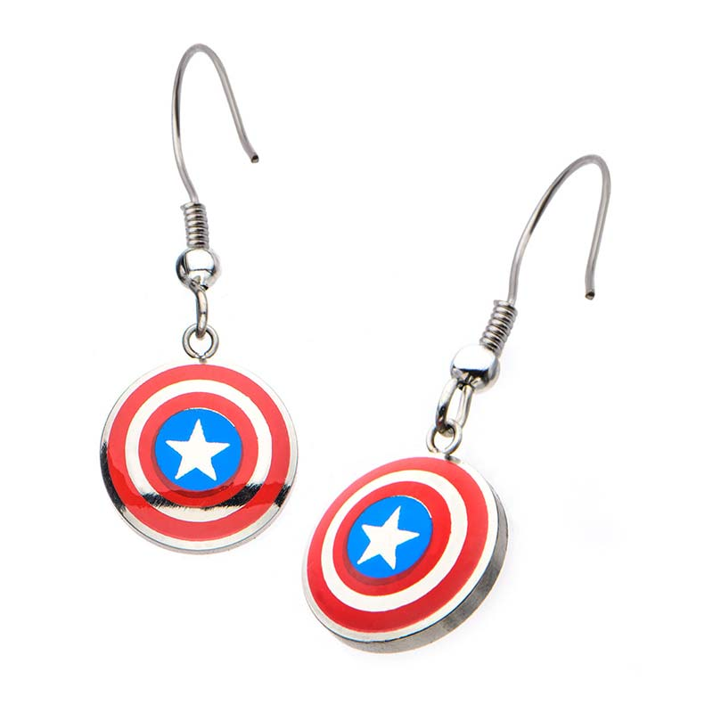 captain america earrings captain america logo earrings superheroden 8125