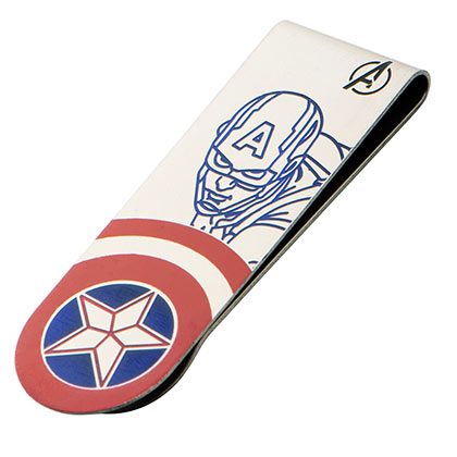 Captain America Laser Etched Money Clip