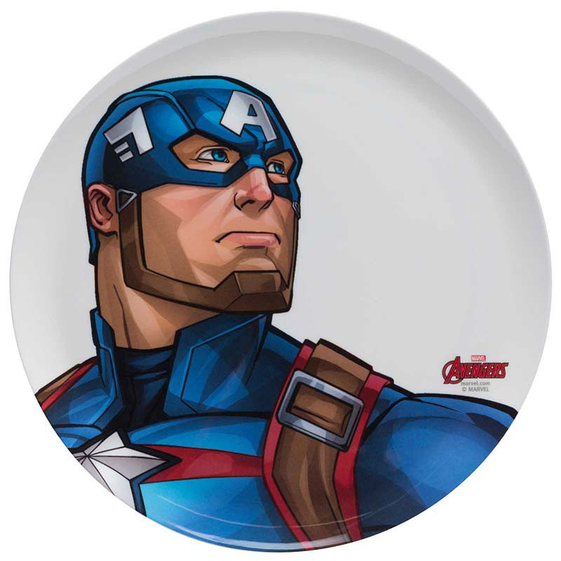 Captain America White Melamine Dinner Plate
