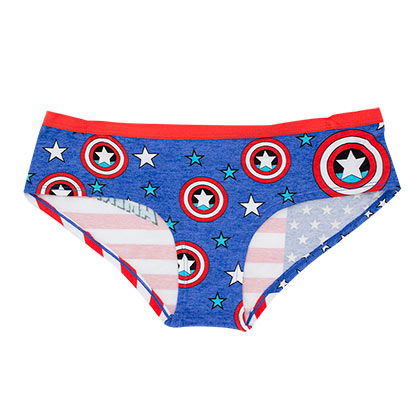 Captain America Repeating Logo Women's Underwear