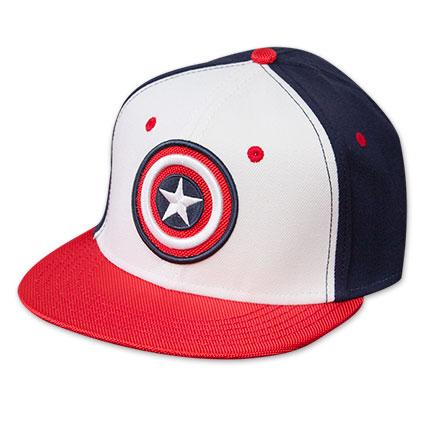 Captain America Star Logo Flat Brim Hat