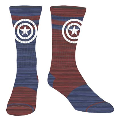 Captain America Logo Flipped Colors Men's Crew Socks